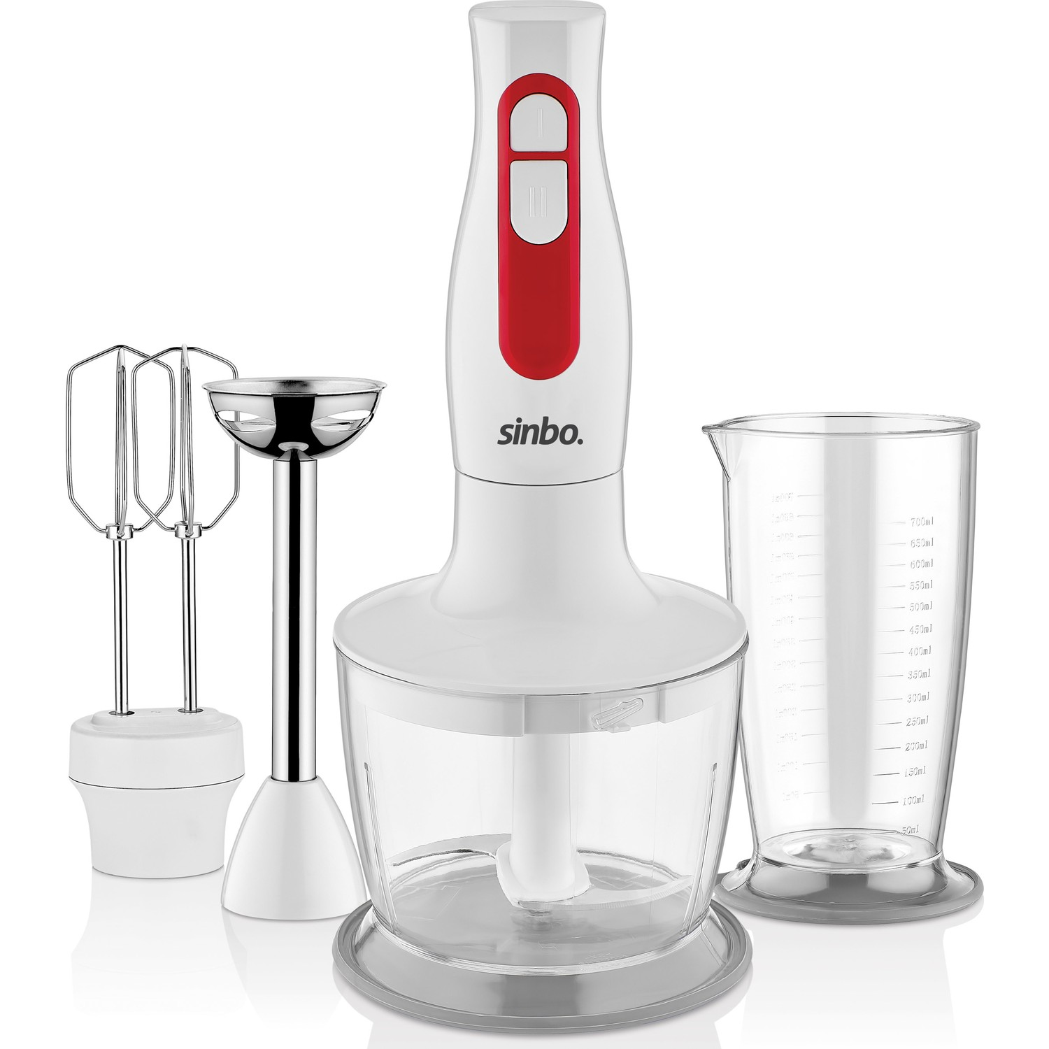 Stainless Steel Immersion Hand Stick Blender Mixer Vegetable Meat Grinder Chopper Whisk Smoothie Cup