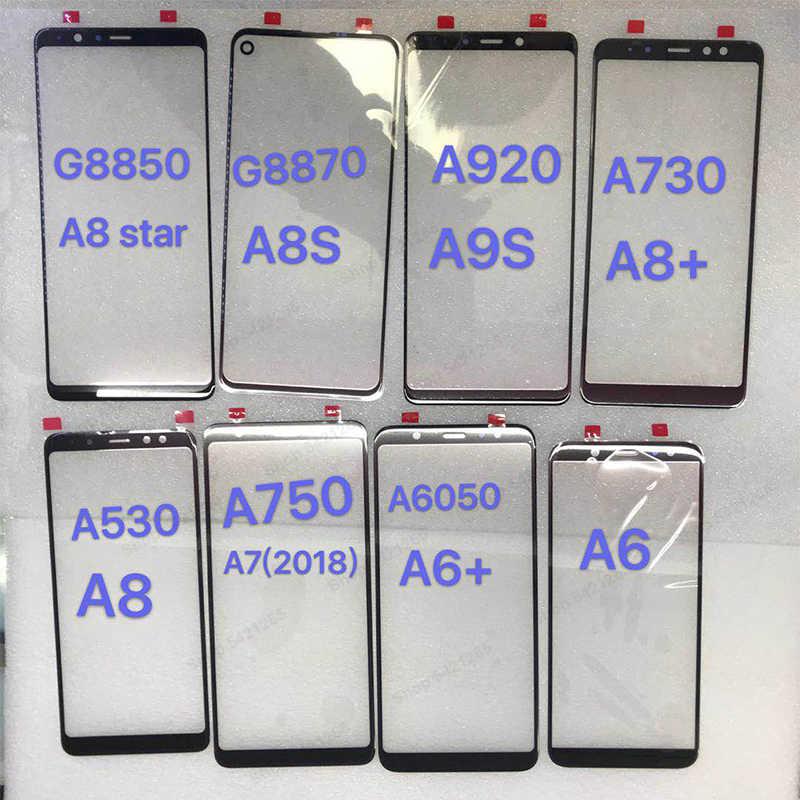 ЖК дисплей Сенсорный экран передняя внешняя Стекло объектив для samsung Galaxy A8 звезда