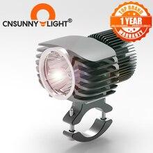 CNSUNNYLIGHT motosiklet LED far Spot 18W 2700Lm süper parlak beyaz Moto sis DRL far avcılık sürüş Spot ışıkları