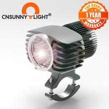 CNSUNNYLIGHT Đèn LED Xe Máy Đèn Pha Đèn Trợ Sáng 18W 2700Lm Siêu Sáng Trắng Moto Sương Mù DRL Đèn Pha Săn Bắn Lái Xe Điểm Đèn