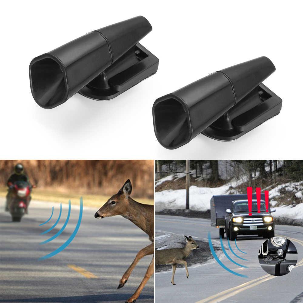 2x Ultrasonic Car Deer Animal Alert Warning Whistles S Safety D5U8 F4W6