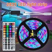 RGB 2835 Light Strip Set Flexible Lamp Tape Ribbon With Diode DC 12V 10M 15M 44 Keys IR Control Luces Led Para Habitacion