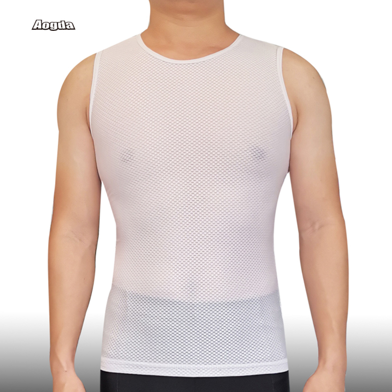 Aogda Cycling Base Layer Quick Dry Cool Mesh Light Cycling Vest Sleeveless Bicycle Shirt Breathable Bike Underwear Jersey