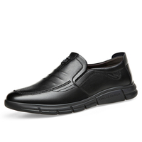 New Men Leather Shoes Plus Size 38-44 Mens Casual Shoes Classic Formal Peas for Business Leather Shoes Black Male Loafers * 1