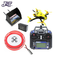Full Set 135mm Brushless FPV Racing Drone 2S DIY RC Quadcopter with MiniF4 Flight Controller Flysky FS I6 TX Apron Racing Gate