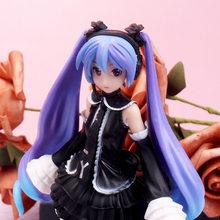 17cm japonya Anime siyah elbise mor saç Sakura aksiyon figürleri oyuncaklar kızlar PVC şekilli kalıp oyuncaklar kız doğum günü hediyeleri ev dekor