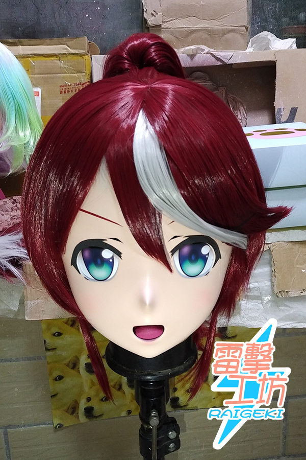 (RAIGEKI MAKS 87) Resin 2/3 Head Crossdresser BJD DOLL Kigurumi Anime Pretty Derby Tokai Teio Cosplay Mask