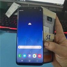 Süper AMOLED LCD Samsung Galaxy S8 G950 G950F LCD ekran dokunmatik ekran Digitizer var ölü piksel hiçbir çerçeve