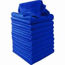 50pcs/Set Car Blue Microfiber Cleaning Towels 23x23cm Washing Cleaning Polishing Detail Automotive Care Supplies цена