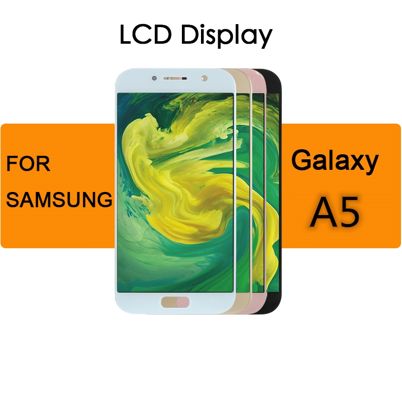 TFT For <font><b>Samsung</b></font> Galaxy A5 Lcd <font><b>Display</b></font> Touch Screen Digitizer Assembly 2017 A520 <font><b>A520F</b></font> SM-<font><b>A520F</b></font> A5 2015 A500 A5 2016 A510 Repair image