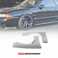 For Nissan R32 Skyline GTS BN Style FRP Fiber Unpainted Front Fender Mudguards +25mm Car accessories Exterior Body kits