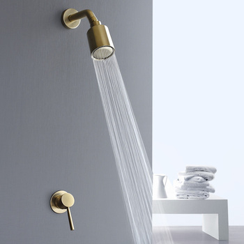 ulgksd black brass bathroom shower faucets wall supported hot and cold mixer tap ceramic valve para bath shower bronze faucets Wall Mount Golden Shower Faucets Set Rainfall Gold Shower Hot Cold Water Mixer Tap Bathroom Brushed Gold Shower Kit
