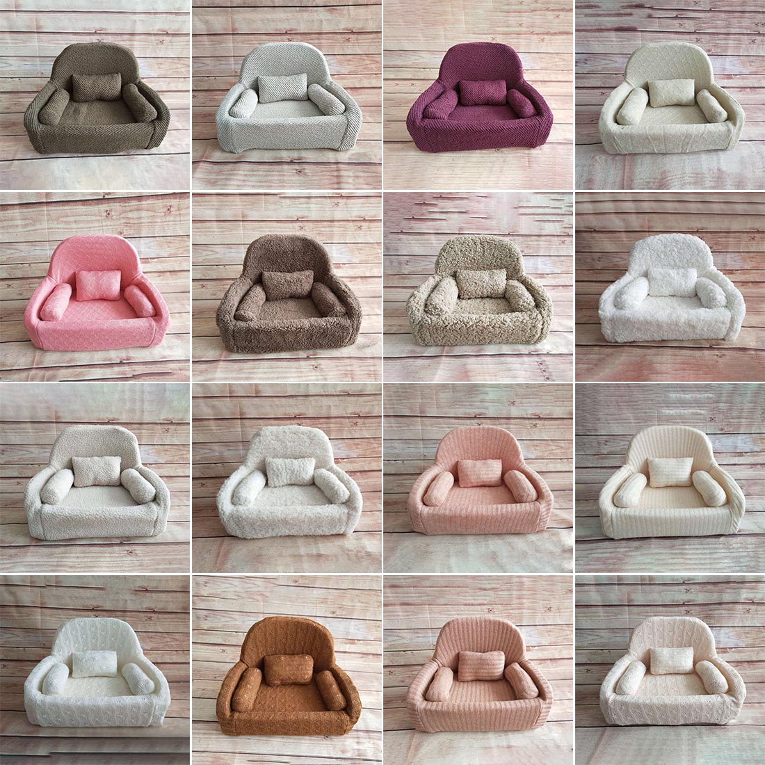 Baby Photography Props Newborn Mini Posing Sofa Chair Photo Shoot Accessories Infant Studio Shooting Props Baby Boy Basket Props