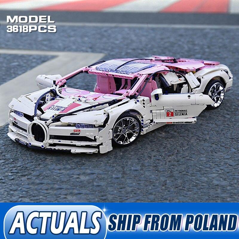 Technic Car Model Toys Mini Blocks 20086 The Pink Speed Race Car Set lepining Bricks Educational Children Car Christmas Gifts