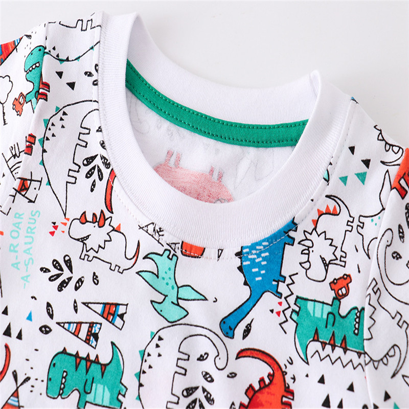 H7cb7977a0ab344cba5d0726c3888e795r Jumping meters Summer 100% Cotton Boys Girls T shirts Tigers Print New Baby Clothes Hot Selling Boys Tees Animals Kids s