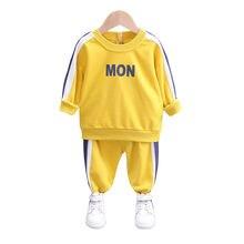 Весенне Осенняя детская одежда для маленьких мальчиков; Хлопковая