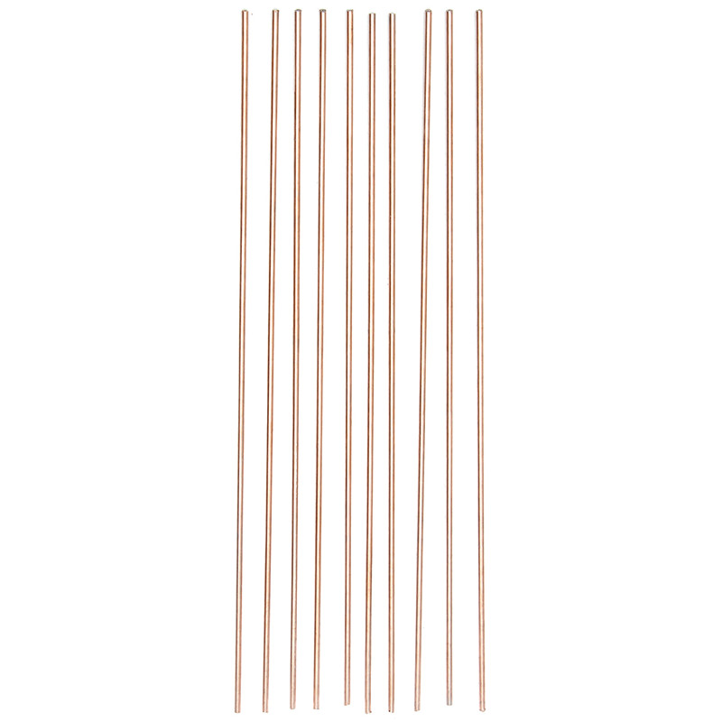 10pcs/set 1.6/2.4/3.2mmx330mm Red Copper Welding Brazing Wire Solder TIG Filler Rod A18 Steel Mild Steel