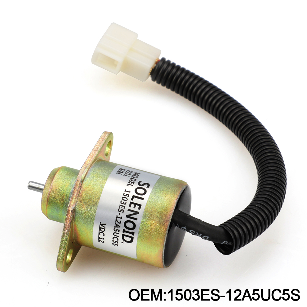 1503ES-12A5UC5S SA-4569-T 12V Fuel Shut Off Solenoid For Kubota 05 Series D905 D1005 V1205 V1305 V1505 17594-6001-4 17454-60010