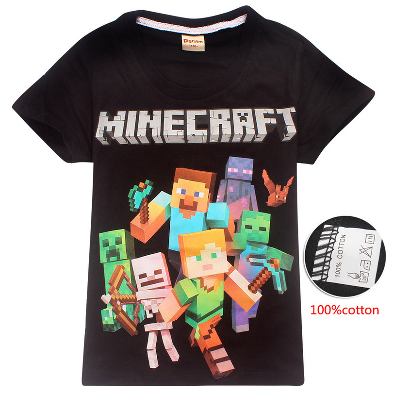 Minecraft T-Shirt Costume Clothing Little Kids Tops Baby-Boys Summer Cotton New