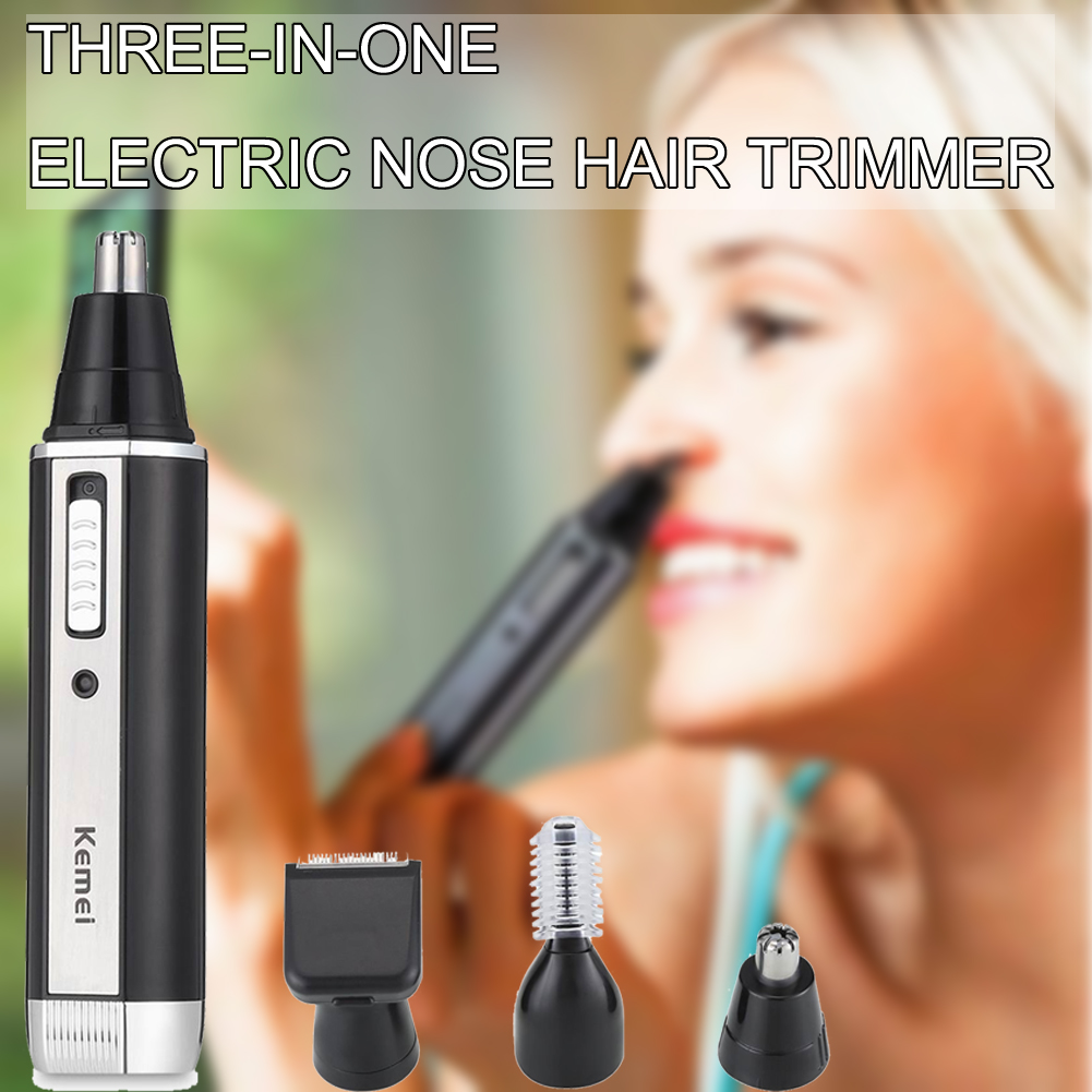 3 In1 Electric Ear Nose Trimmer Rechargeable Hair Removal Eyebrow Trimer Safe Lasting Face Care Personal Health Care Tool Kit