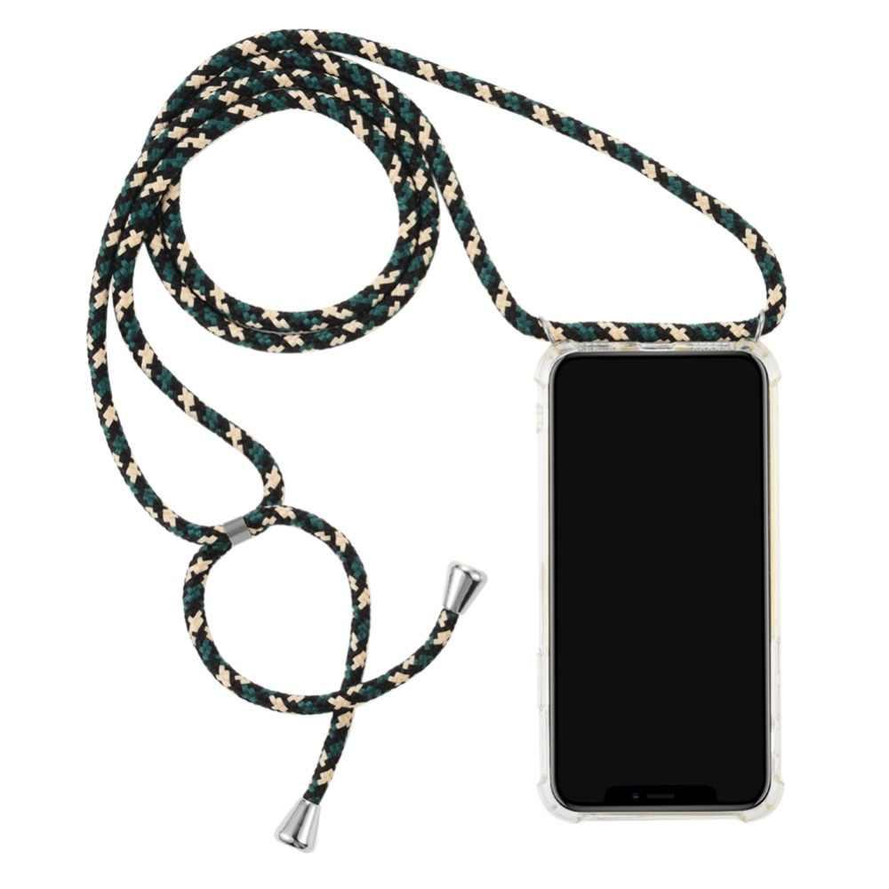 2ndSpring Funda con Cuerda Compatible con Xiaomi Redmi Note 8,Colgante Collar Correa de Cuello Cadena Cord/ón,Rose Gold