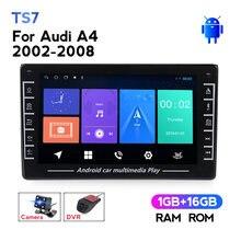 Auto Multimedia Gps Navigatie Auto Radio Stereo Speler 2din Voor Audi A4 B6 B7 2002 - 2008 S4 RS4 Steering wheel Control Wifi