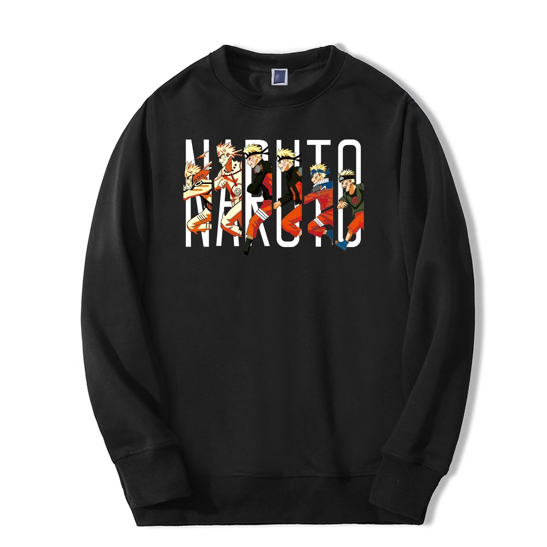 Uzumaki Naruto Sweatshirts Hoodie Men Causal Fashion Sportswear Fleece Tracksuit Hip Hop New Arrival Fitness Harajuku Streetwear