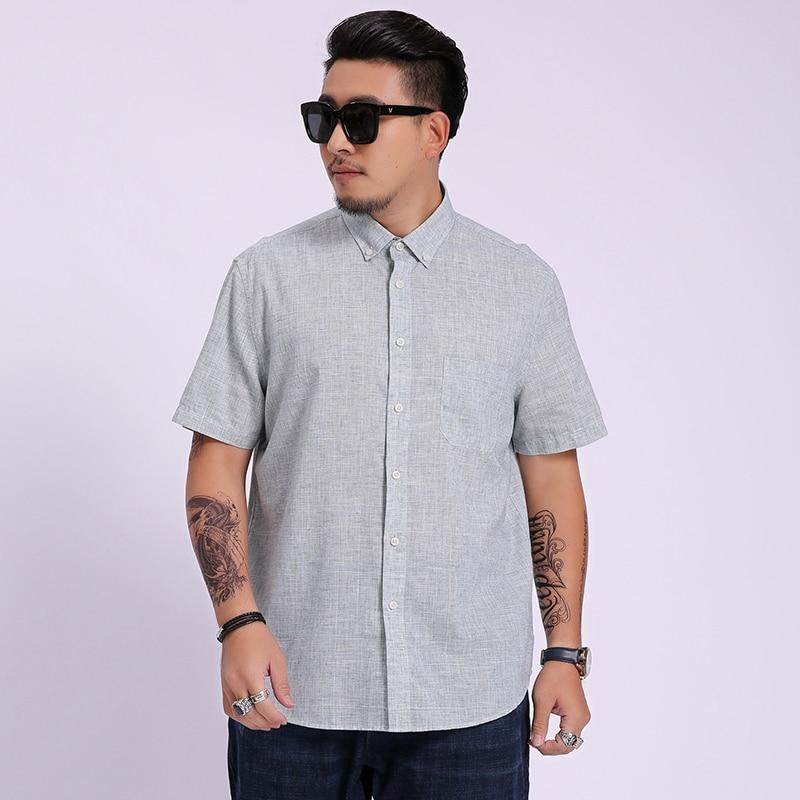 Plus Size 8XL 6XL 5XL New Arrival Brand Men's Summer Business Shirt Short Sleeves Turn-down Collar Tuxedo Shirt Shirt Men Shirts