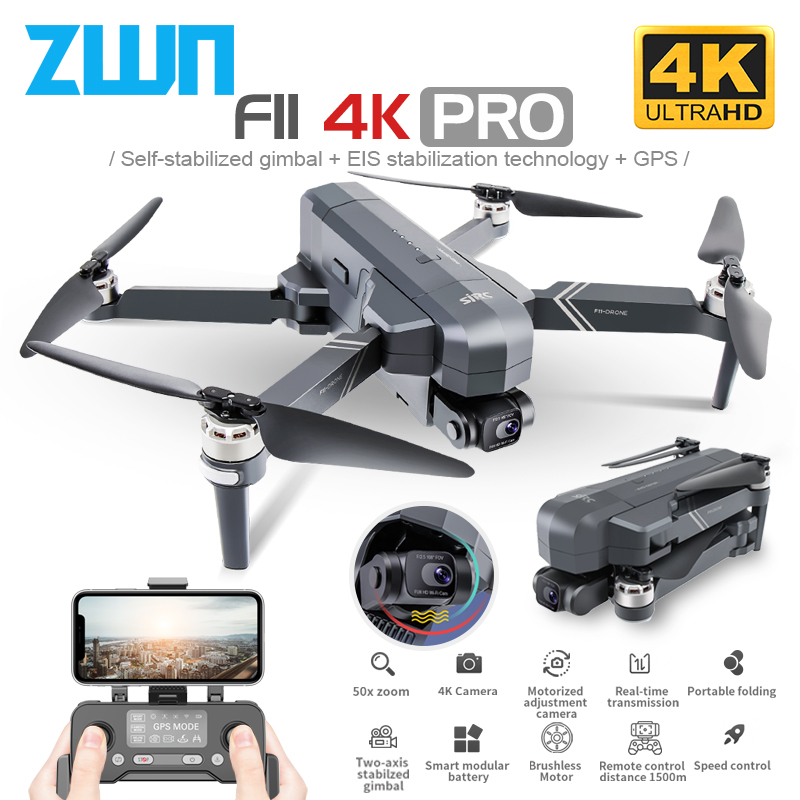 SJRC F11 PRO 4K GPS Drone With Wifi FPV 4K HD Camera Two Axis Anti Shake Gimbal F11 Brushless Quadcopter Vs SG906 Pro 2 Dron|RC Helicopters| - AliExpress