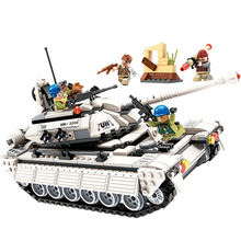 цена Fit Military Series World War Army Thunder Mission Tank Soldier Figures Enlighten DIY Building Blocks Toys For Boy Birthday Gift онлайн в 2017 году