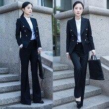 womens suits set 2 pieces black suit