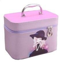 Mulheres maquiagem profissional saco de cosméticos caso organizador de viagem moda necessária caixa de armazenamento de higiene pessoal portátil mala sacos sz03