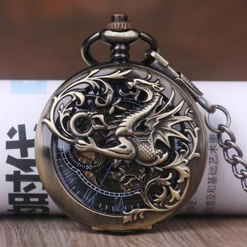 Retro unikalne zegarki kieszonkowe i Fob mechaniczne zegarki kieszonkowe grawerowane mężczyźni kobiety zegarek kieszonkowy tanie i dobre opinie SHUHANG QUARTZ STAINLESS STEEL ROUND ANALOG Stacjonarne Z tworzywa sztucznego Unisex Kieszonkowy zegarki kieszonkowe Antique