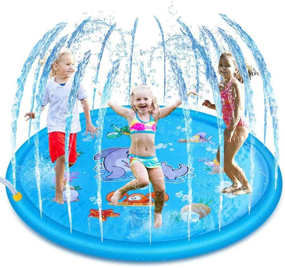 170//150//100CM Pool Spray Splash Water Mat Kid Inflatable Garden Outdoor Play Toy