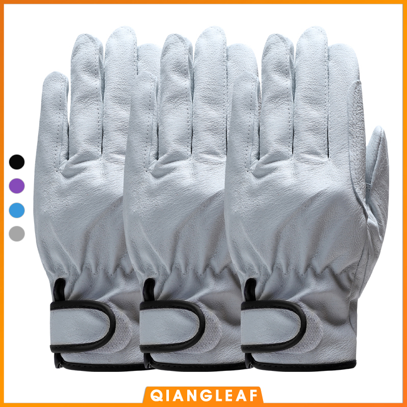 QIANGLEAF 3pcs Free Shipping Hot Sale Protection Men's Work Glove D Grade Thin Leather Safety Outdoor Work Gloves Wholesale 527