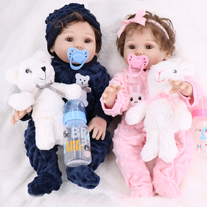 "NPK reborn baby toy dolls 18""43cm whole silicone vinyl reborn baby girl dolls bebes reborn bonecas play house toys child plamate(China)"