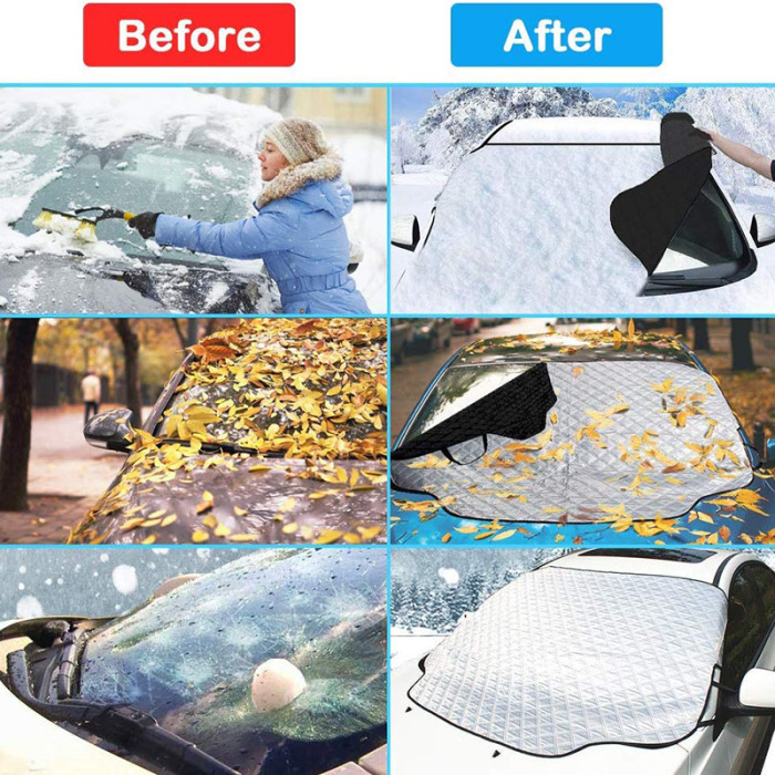 Car Windshield Snow Cover Waterproof Protection For Winter 10