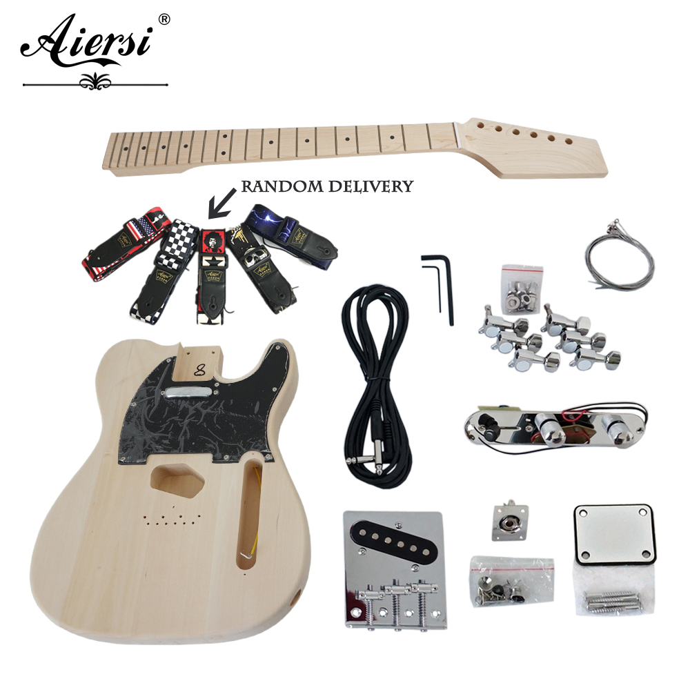 Aiersi marque usine prix télé Style tilleul bricolage guitare électrique Kits modèle EK-002