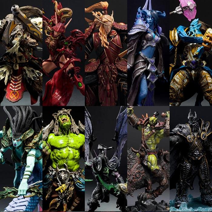 DC WOW Arthas Menethil The Lich King Illidan Stormrage Sylvanas Vashj Priestess Undead Warlock Action Figure Model