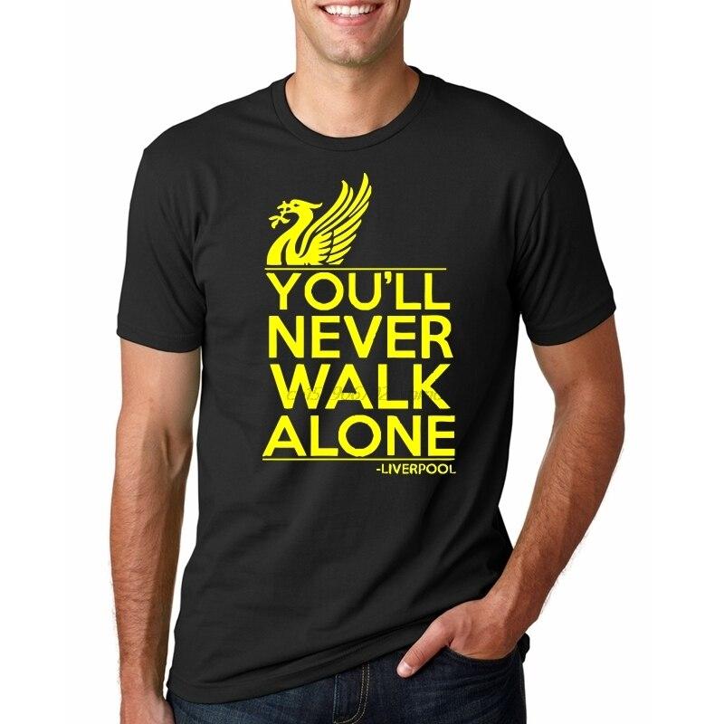 Summer Fashion Liverpool T Shirt You'll Never Walk Alone Football Fan Club YNWA Mens Gift Tee