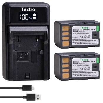 2pcs BN-VF815 BNVF815 BN-VF815U Battery+LED USB Charger for JVC GR-D720US GR-D728 GR-D750US GR-D740US GR-D771 GR-D720 Battery фото