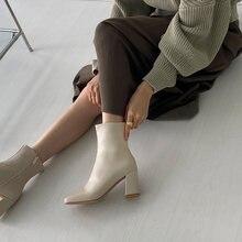 Белые бежевые черные женские ботинки удобные ботильоны на высоком