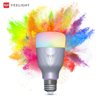 Yeelight 1SE bombilla LED inteligente E27 6W RGB AC Control de voz inalámbrico de luz de colores de 650lm 100-240V soporte Google lámpara LED para el hogar