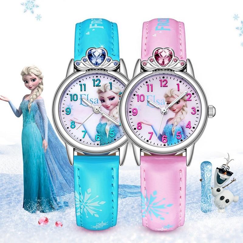 Большая Распродажа Милые Девушки Кварцевые Часы Моды Кожа Наручные Часы Женщины Дамы Роскошный Горный Хрусталь Красивые Часы Застывшего Времени Девушка Часы