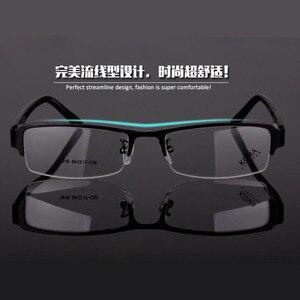 Image 5 - BCLEAR klasyczne pół obręczy ze stopu okulary rama marka projektant biznes mężczyźni rama okulary spektakl wiosna zawias na octanu nogi