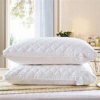 1 Pc 3D Witte Slaap Kussen Nek Kussens Voor Thuis Hotel Gezondheid Slapen Kussens Rechthoek 48*74 Cm hoge Kwaliteit Thuis Textiel