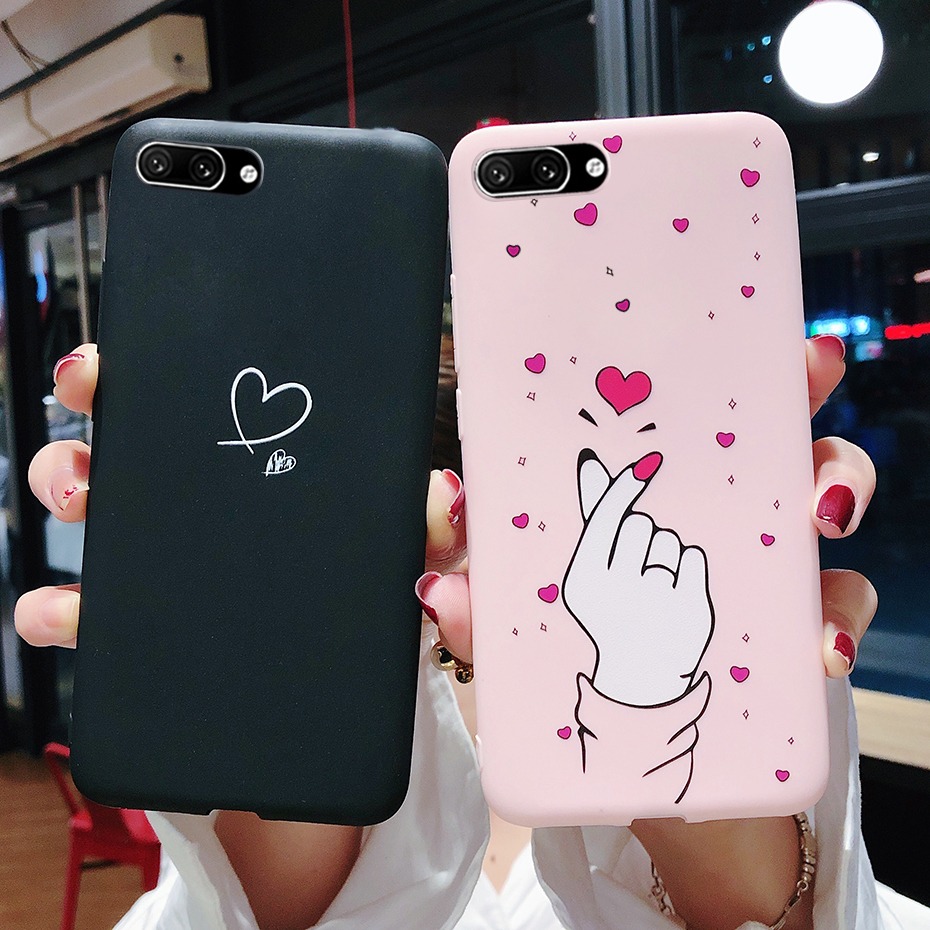 Silicone Case For Huawei Honor 10 Case Honor 10 Cover 5.84 Candy Slim Thin Soft TPU Back Cover Coque For Huawei Honor 10 COL L29