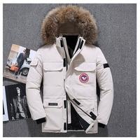 2019 Extreme weather parkas Real fur jacket High quality men's goose jacket parkas 40 Celsius Winter Down Coat Parka