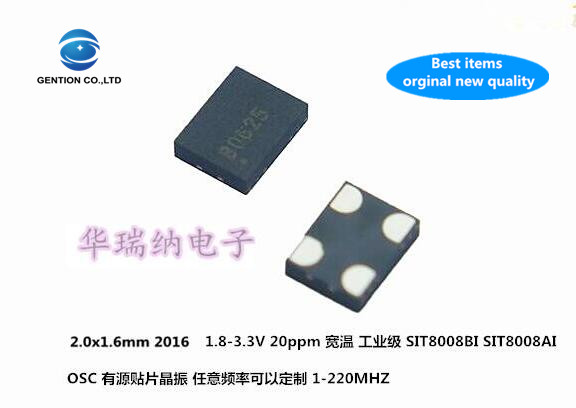 5pcs 100% New And Orginal SITIME SIT8009AI-71-33E 2016 3.3V Active SMD Crystal 125M 125MHZ