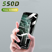 550D Curved Full Cover Protective Glass On The For iPhone 7 8 6S Plus Tempered Screen Protector iPhone 11 Pro X XR XS Max Film